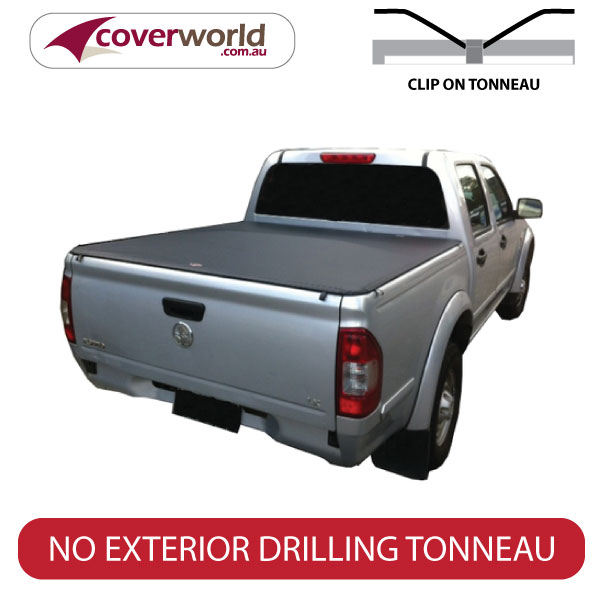 rodeo dual cab without sports bars & headboard, clip on ute tonneau cover