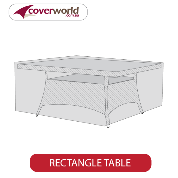 Rectangle Patio Table Cover 220cm L x 140cm W x 70cm H