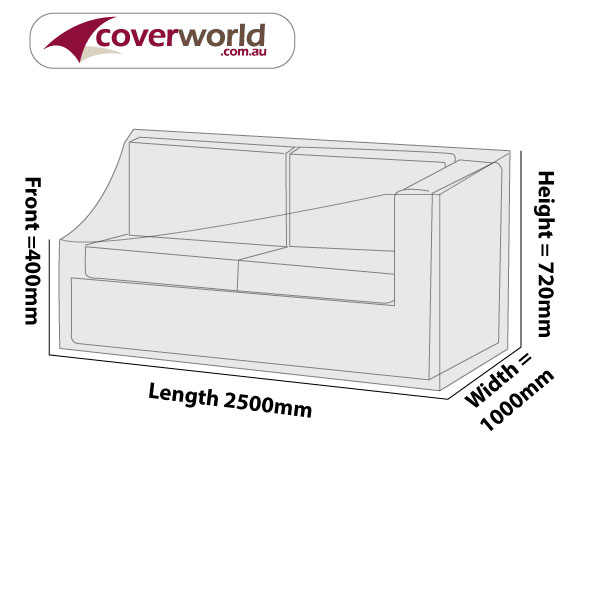 modular sofa no armrest at right end (when sitting) cover 195cm l x 95cm d x 72cm h