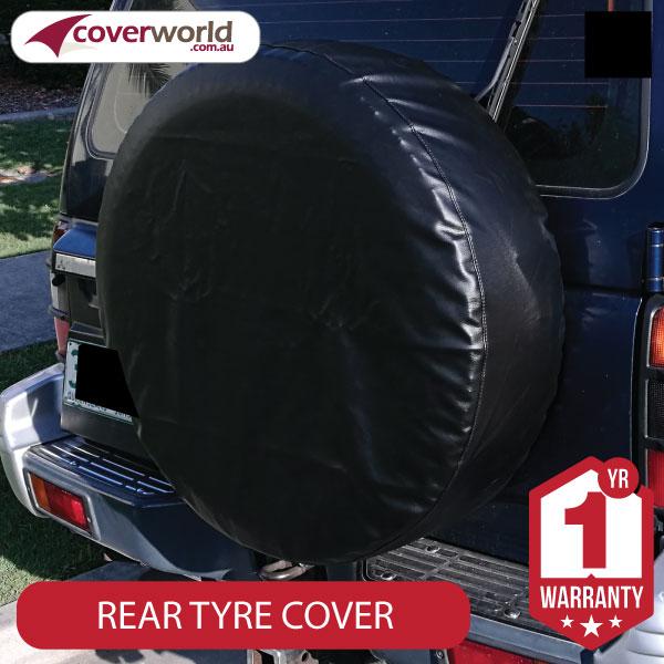820mm Diametre x 340mm Depth - Spare Tyre Cover - Heavy Duty Black Vinyl